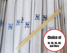 """9"""" Bamboo Chopsticks Individually wrapped Disposable High-Quality Chopsticks"""