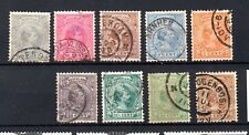 Netherlands (3394) 1891  Queen Wilhelmina large part set to 25 cents used