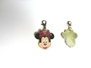 Minnie Mouse Enamel Pet Dog Puppy / Doggy Jewellery Collar / Lead Clip on Charm