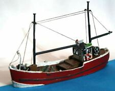 More details for wooden fishing trawler 64 nmb17 unpainted n gauge scale langley models kit