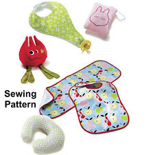 Kwik Sew K3812 Pattern Bibs, Burp Cloth, Pillows & Toy OSZ BN