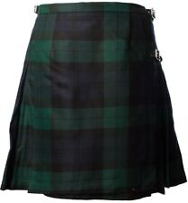 Ladies Deluxe Mini Skirt Kilt Black Watch Tartan