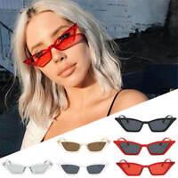 Ladies Small Thin CAT EYE RETRO VINTAGE SUNGLASSES UV400 Glasses Eyewear