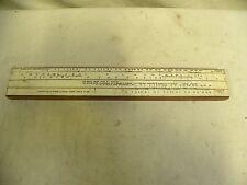 Vintage Wood Wooden Spring Weight Calculator Slide Rule (A9)