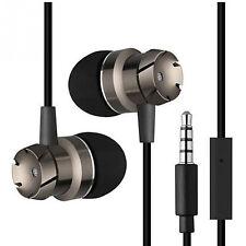 Metal auriculares negro Bronz metal in-ear auriculares pinganillo turbina piston Bass