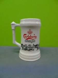 Carlsberg draught white porcelain/China tankard