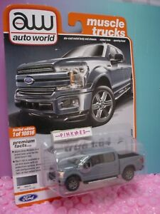 Auto World 2019 FORD F-150 LARIAT #1 ∞abyss gray∞Muscle Trucks∞rel 3 ver A