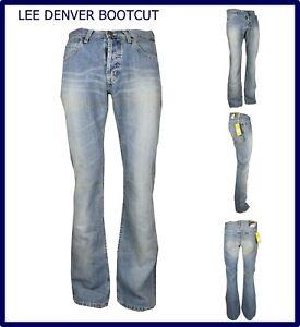 Jeans Lee Denver da uomo A Zampa di elefante Svasato Bootcut Scampanato w31 l34