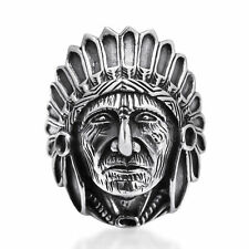Native American Style .925 Sterling Silver Ring-12