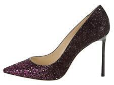 $675 NIB JIMMY CHOO Glitter Degradé ROMY 100 Pink Black Size 40 Pumps Shoes