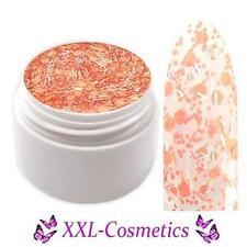 Flippie Gel Gel de colores UV Confeti Efecto Naranja Blanco 5ml