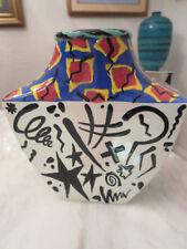 Geometric Postmodern Memphis Vase Art Pottery 1993