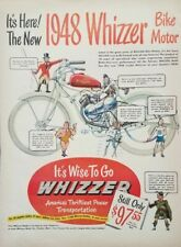 1948 Whizzer Bike Motor Vintage Bicycle Parts Motorcycle Print Ad
