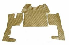TRUCK Floor Mats RHD For VOLVO FH AUTOMAT 2006-2014 BEIGE Eco Leather