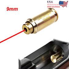 US Brass CAL 9mm Red Laser Bore Sight Cartridge Bullet Shap Boresighter Battery