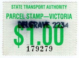 (I.B) Australia - Victoria Railways : Parcel Stamp $1 (Belgrave)