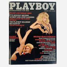 Playboy Magazine January 1983 Sisters Audrey & Judy Landers Shannon Tweed