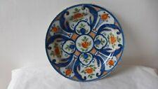 Ancien petit plat faience DELFT Marque. XVIIIème.  Antique Delft charger dish.BB