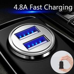 Chargeur allume-cigare double USB universel voiture téléphone charge rapide 3.0