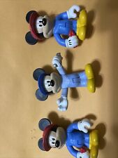 """Disney Mickey Mouse 3 - Figure Mechanic Engineer with Wrench Plastic 3"""" Logo"""