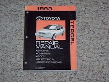 1993 Toyota Tercel Shop Service Repair Manual LE DX Coupe Sedan 1.5L