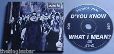 Oasis - D'You Know What I Mean UK 1997 Promotional CD