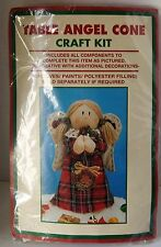 Table Angel Standing Plaid Christmas Cone Craft Kit Complete