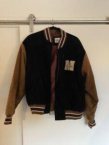 Vintage Mickey Mouse Suede Leather Jacket - Bomber Varsity - Disney - sz Large