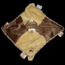Doudou carré plat marron beige Emma La Taupe Ours radis Noukie's Noukies