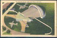 NEW YORK WORLD'S FAIR 1939 AVIATION BUILDING MINT POSTCARD