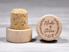 Custom Wine Stopper Gift Personalized Wedding Favor Couple Gift Etched Wood Cork