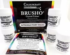 Brusho® Introductory Pack 5 x 15g Pots + 100g Brusho Thickener