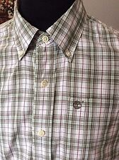 """Timberland ~ fine cotton fine check s/sleeve casual button collar shirt ~M 40"""""""