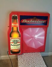Budweiser Clydesdale Light Up Hanging Bar Sign board Tested