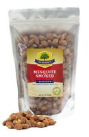 1 lb Mesquite Smoked Roasted Almonds Steam Pasteurized Farm Fresh Resealable Bag