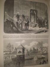 Ireland Dublin International Exhibition unpacking statues lake 1865 prints ref T