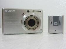 Sony Cyber-Shot DSC-S750 7.2MP Digital Camera W/ Battery + SD Card - Silver