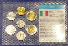 Italy 5 - 500 lire 1980-1992 XF UNC Circulation Coin Set - World Currencies