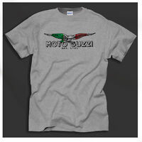 Moto Guzzi Italian Vintage Classic T-Shirt Biker Motorcycle Retro Grey T-Shirt
