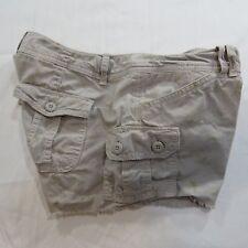 AMERICAN EAGLE Mini Short Cargo Shorts Khaki Floral Light Brown Womens Size 2