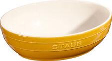 Set 2 Staub Ceramica Ciotola insalata 2 pz. frutta ovale Gel di senape