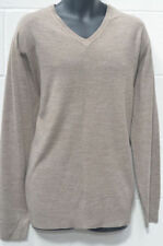 Acrylic George V Neck Thin Knit Jumpers & Cardigans for Men