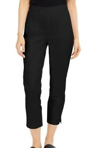 Eileen Fisher Womens Pants Black PP Petite Pull-On Ankle Stretch Twill $178 550