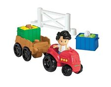 FISHER PRICE ~LITTLE PEOPLE FARM TRACTOR & TRAILER PLAY SET ~ With Pop-ups