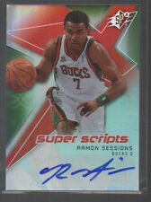 RAMON SESSIONS 2008-09 SPX SUPER SCRIPTS AUTO CARD #SS-RS