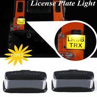 2PCS LED Rear License Plate Light For TRAXXAS TRX4 Land Rover Defender Wrangler