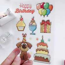 Happy Birthday Ballon Transparent Clear Stamp Silicone Seals Scrapbooking Card