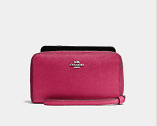 New Coach iPhone 5/6/7 PHONE WALLET IN SIGNATURE Sale $59.95. Orignal Price $165