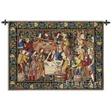 """Vendages Medieval Wall Tapestry Wine Making Process Winery Grape Motif 75""""x53"""""""