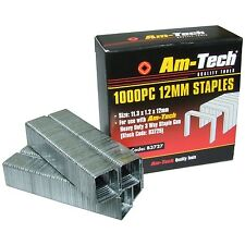 1000 Heavy Duty 12mm Quality Staples for Staple Gun Office Wall